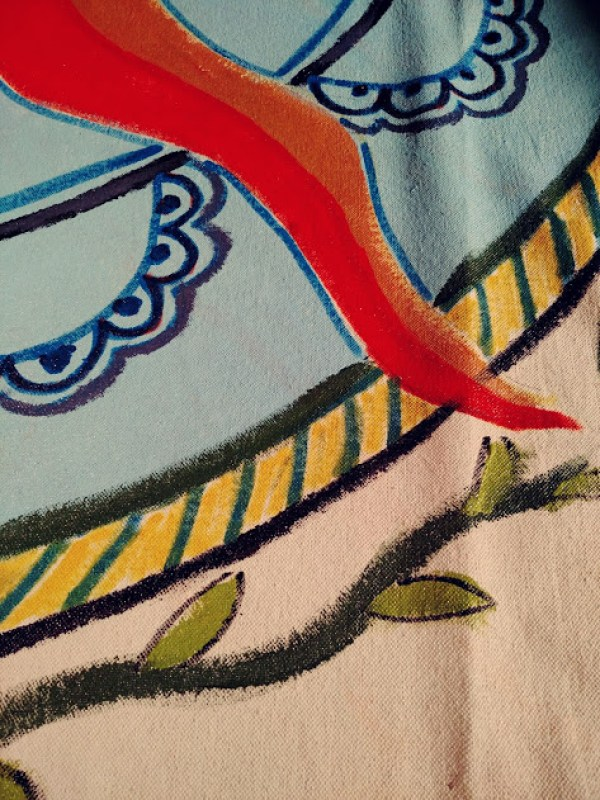 floor cloth corner on Shalavee.com