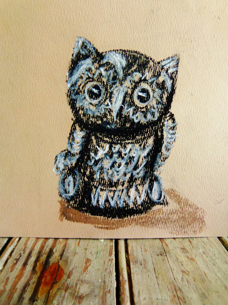 owly pastel drawing on Shalavee.com