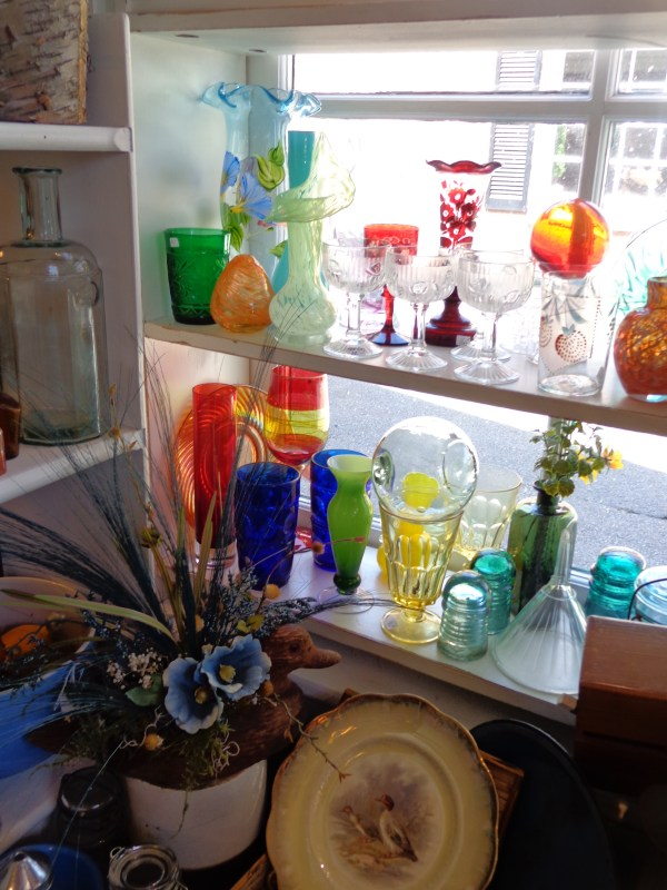 colored glass in the window at Moonvine on Shalavee.com