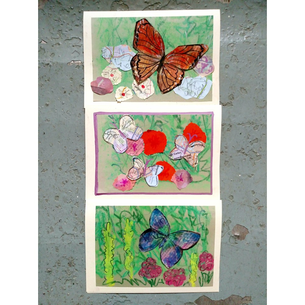 Butterfly thank you notes on Shalavee.com