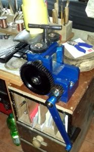 Another view of Rolling Mill installed on my workbench