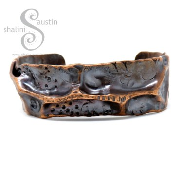 Rustic Copper Pipe Cuff FANTASY