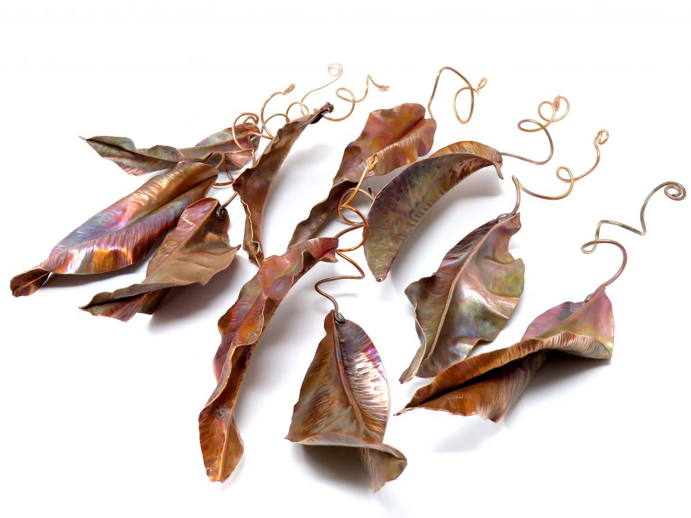 Copper leaves at Stockist in Stamford - A & B Antiques and Interiors