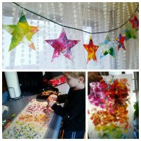 DIY Christmas Star Stained Glass Ornament Craft For Kids ...
