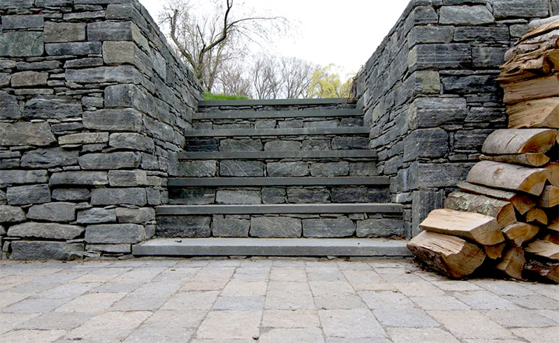 Stone Stairs Shamrock Masonry