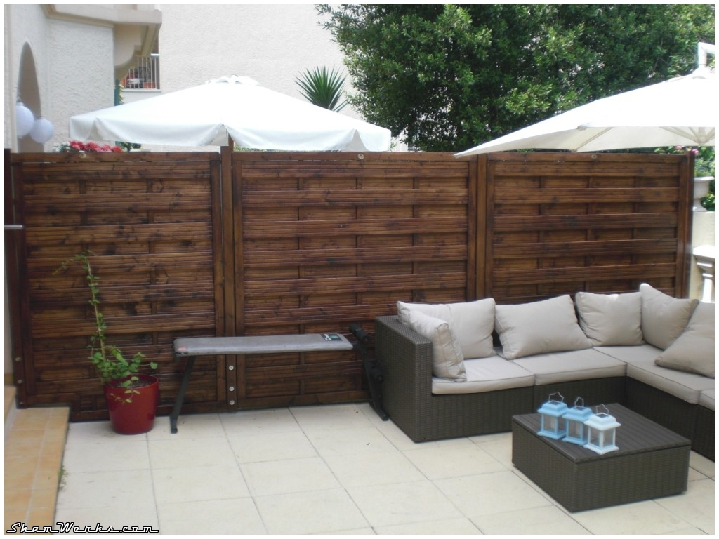 Mur De Separation Exterieur Prix D 39une Clôture En Bois Composite