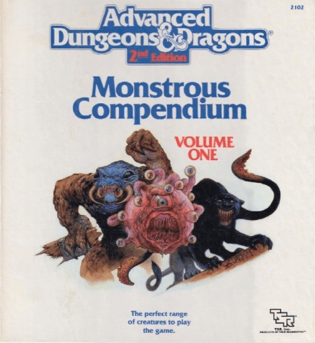 AD&D 2nd Edition Monstrous Manual Volume 1