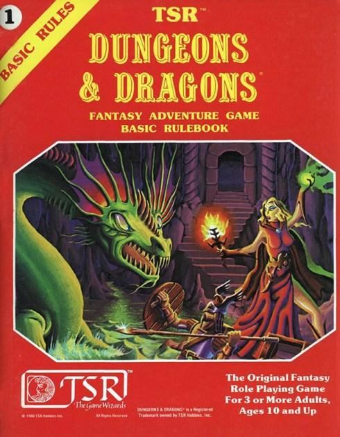 D&D Basic Set 2nd Edition Rulebook 1981