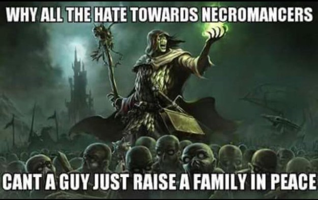 d&d meme why all the hate for necromancers
