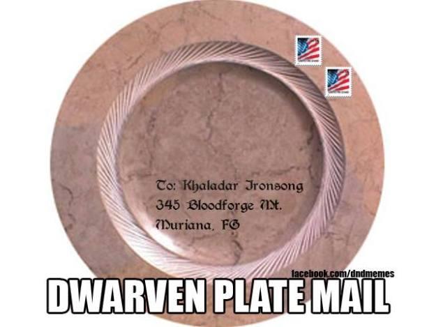 d&d meme dwarven plate mail