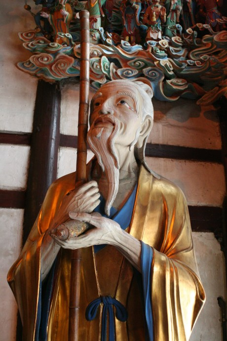 This old guy was standing just on the other side of Guanyin.  Looks like he's waiting on something...