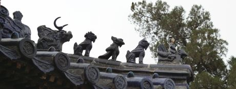 I just loved these guys on all the rooftops.  The more animals you had, the more important you were.  Nobody but the emperor could have 9.  There was one building in the Forbidden City that did have 10 just to show how important that building was...