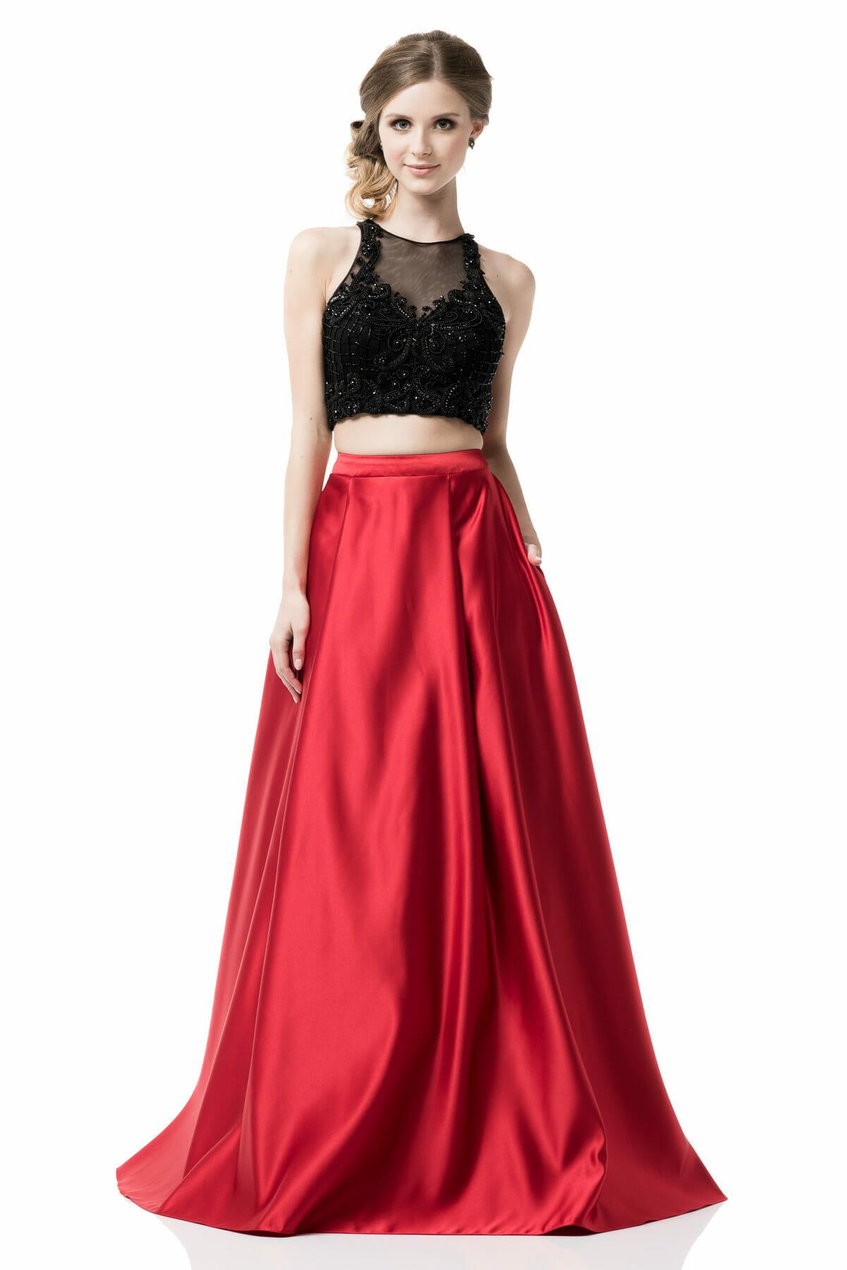 Relieving Woman 2 Piece Set Scoop Neck Sleeveless A Line 2 Piece Dresses Prom 2 Piece Dresses wedding dress 2 Piece Dresses