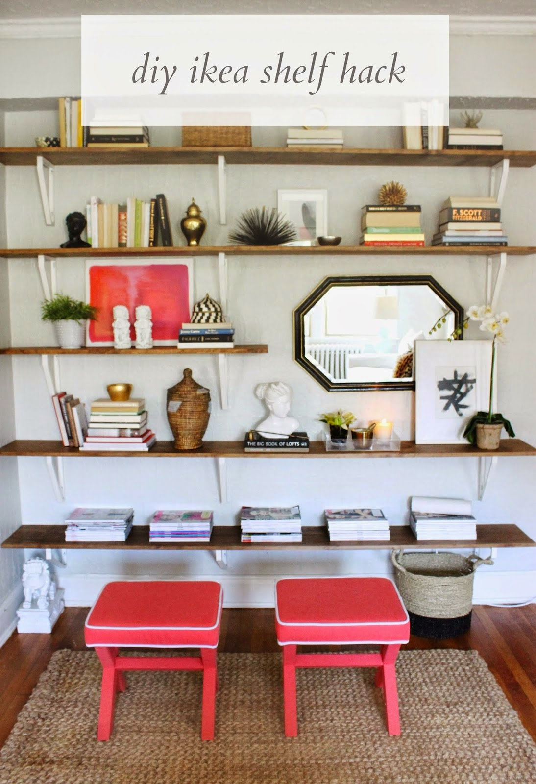 How To Diy Ikea Hacked Shelving Unit Shannon Claire