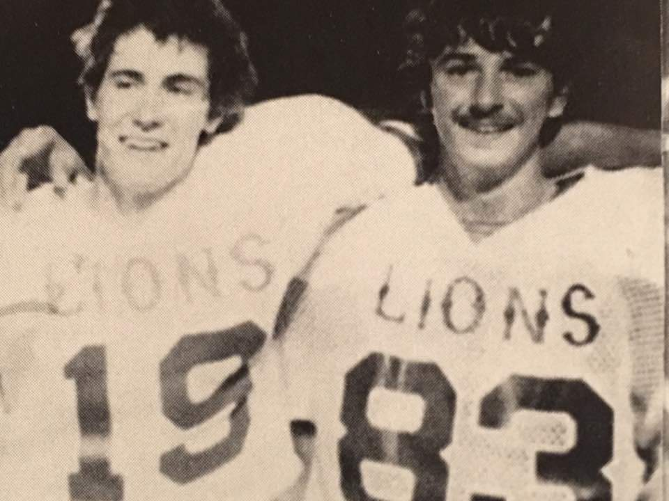 Nathan Shannon and Steve Johnson. New Deal High School 1983