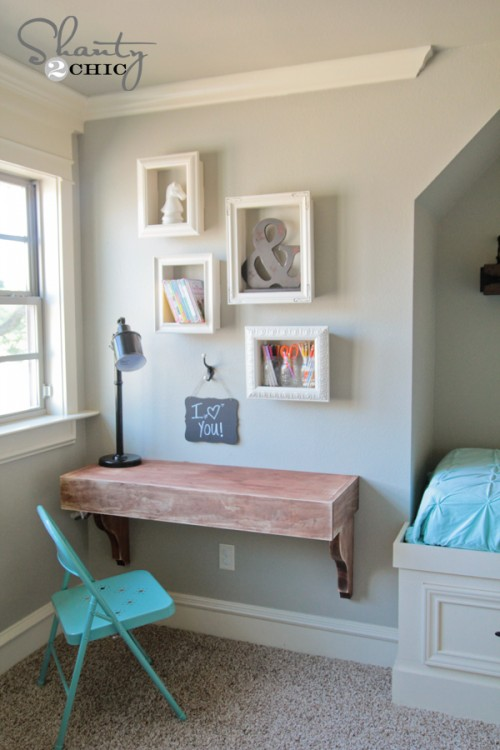 Wandregal Quadratisch Ikea Diy Corbel Desk For $85 - Shanty 2 Chic