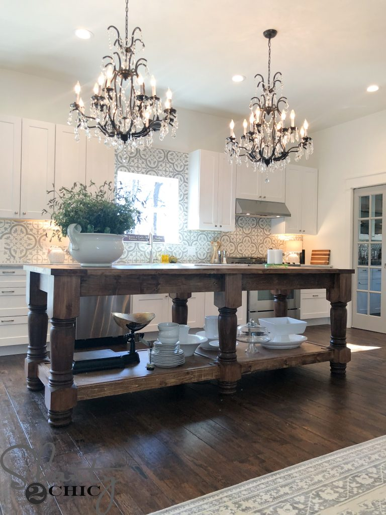 Custom Kitchen Island Cost Diy Kitchen Island - Free Plans & How To Video - Shanty 2 Chic