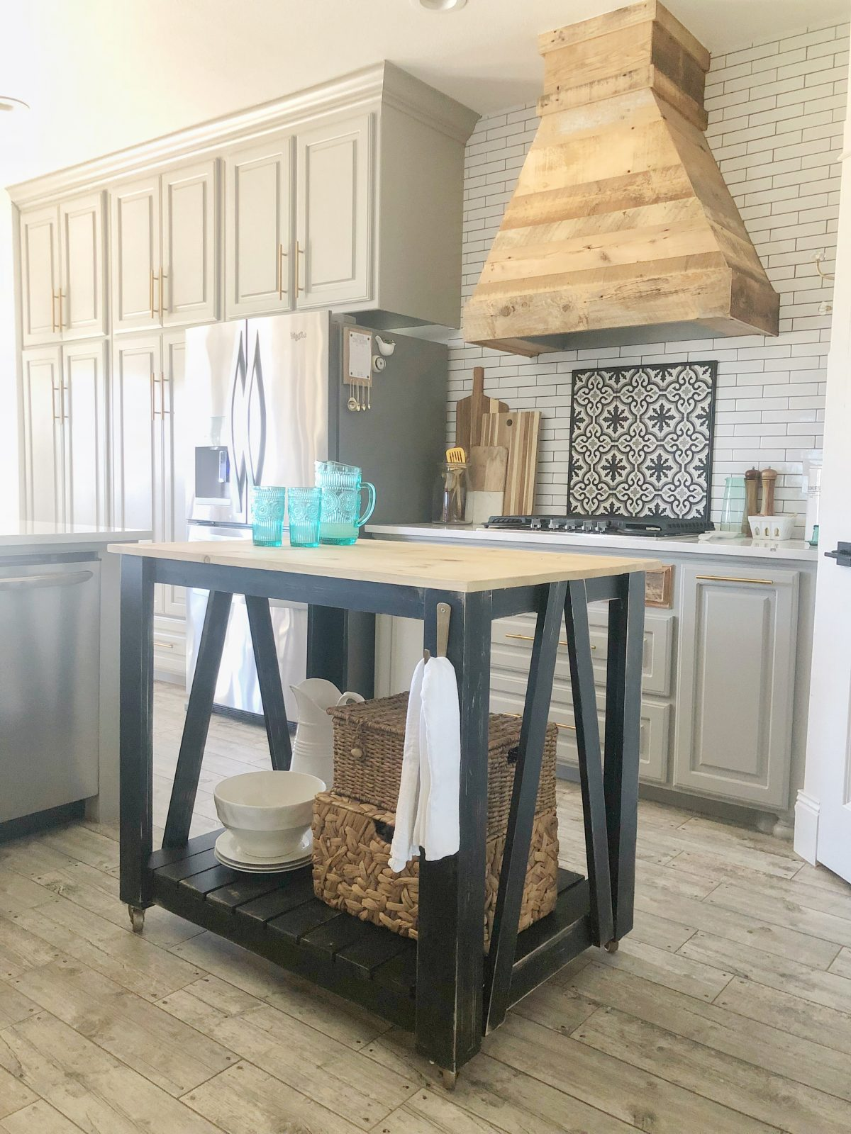 Kitchen Island Design Template Diy Modern Farmhouse Kitchen Island Cart Shanty 2 Chic