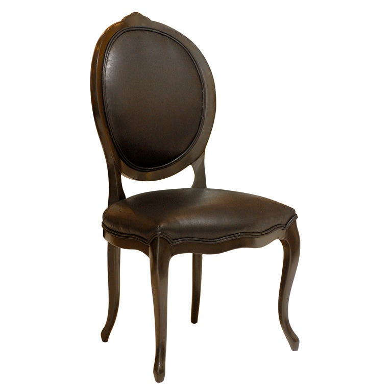 Black Round Back Dining Chair at 1stdibs