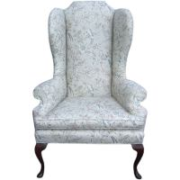 High back wing chair at 1stdibs