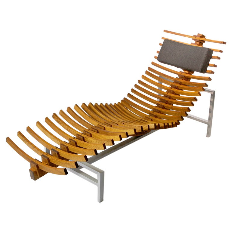 Chaises Wooden Teakwood Chaise Longue At 1stdibs