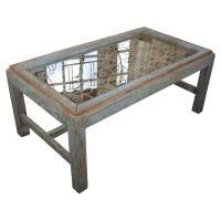 Weathered Wood Coffee Table at 1stdibs