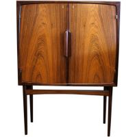 Norwegian Mid-Century Modern Bar Cabinet in Rosewood at ...