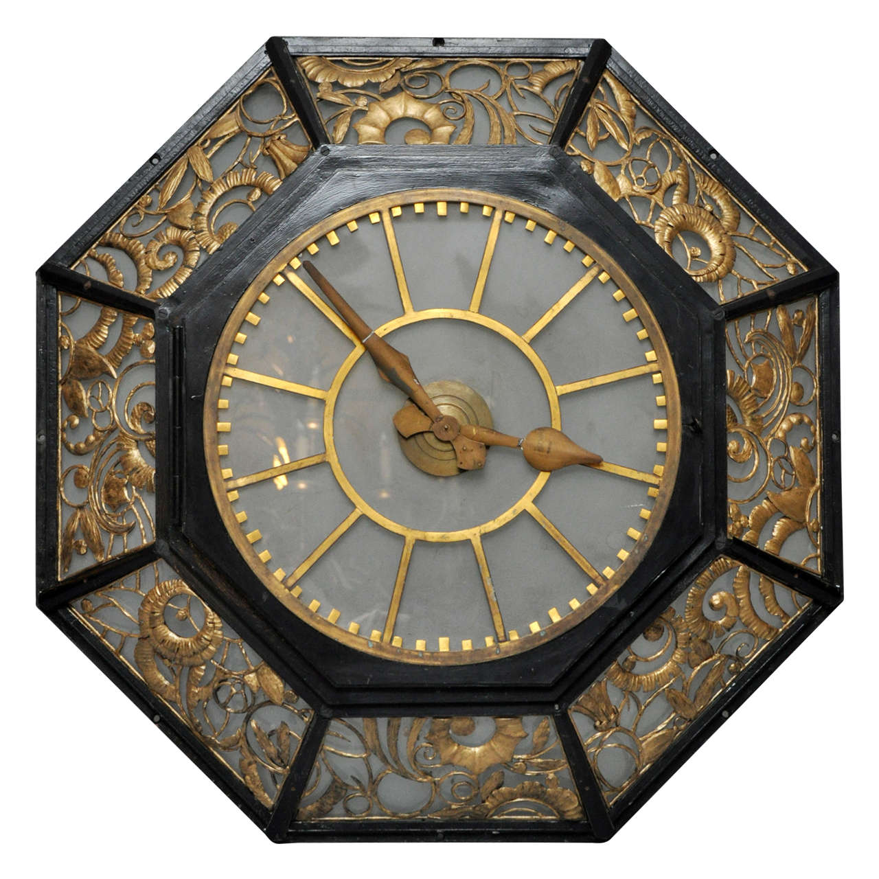 Wall Art Clocks French Art Deco Wall Clock At 1stdibs