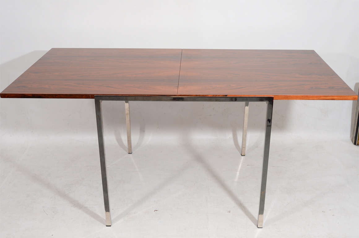 Fold Out Dining Table Fantastic Fold Out Rosewood Dining Table At 1stdibs