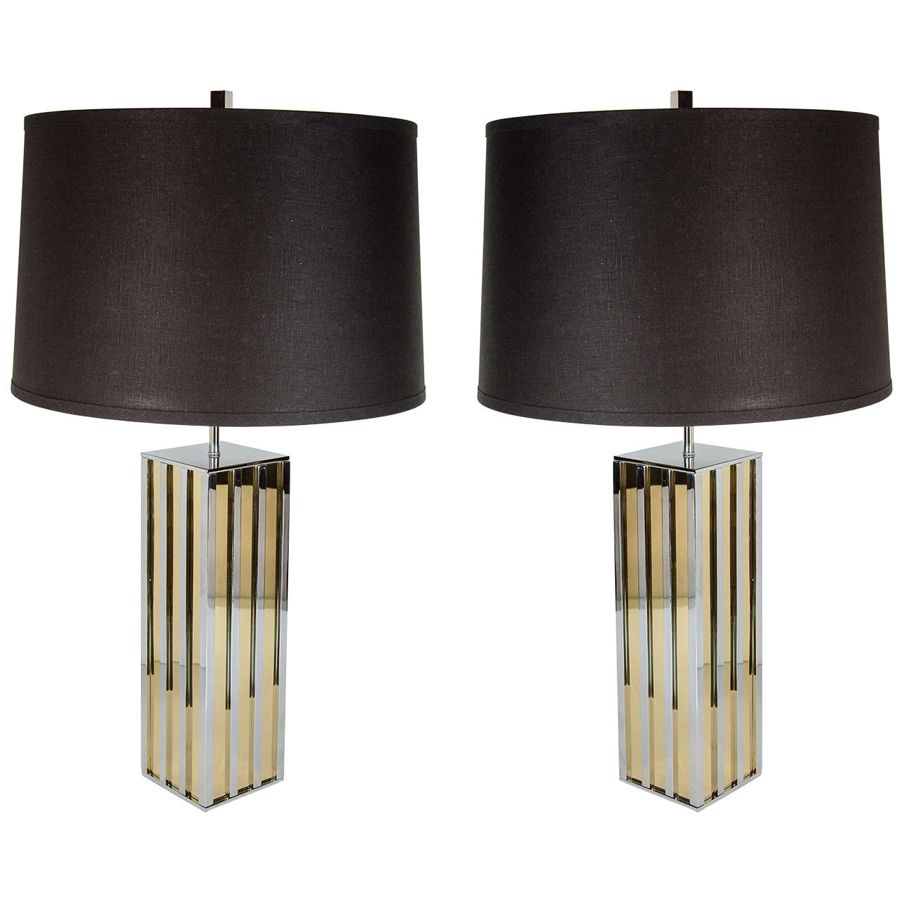 Ultra Modern Table Lamps Ultra Chic Pair Of Mid Century Modern Table Lamps In The