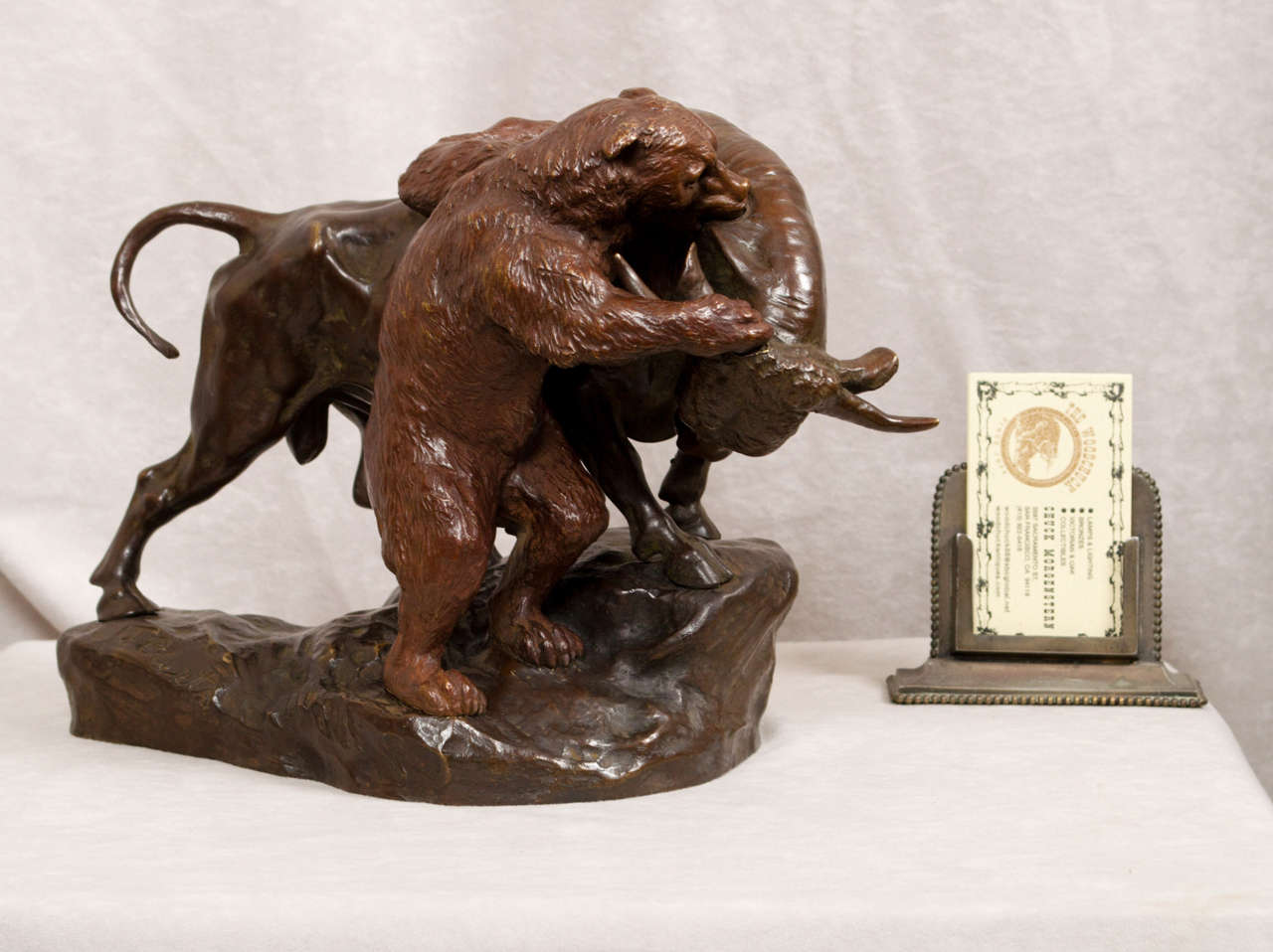 Bull And Bear Gifts Austrian Bronze Of Bull And Bear Stock Market Interest At