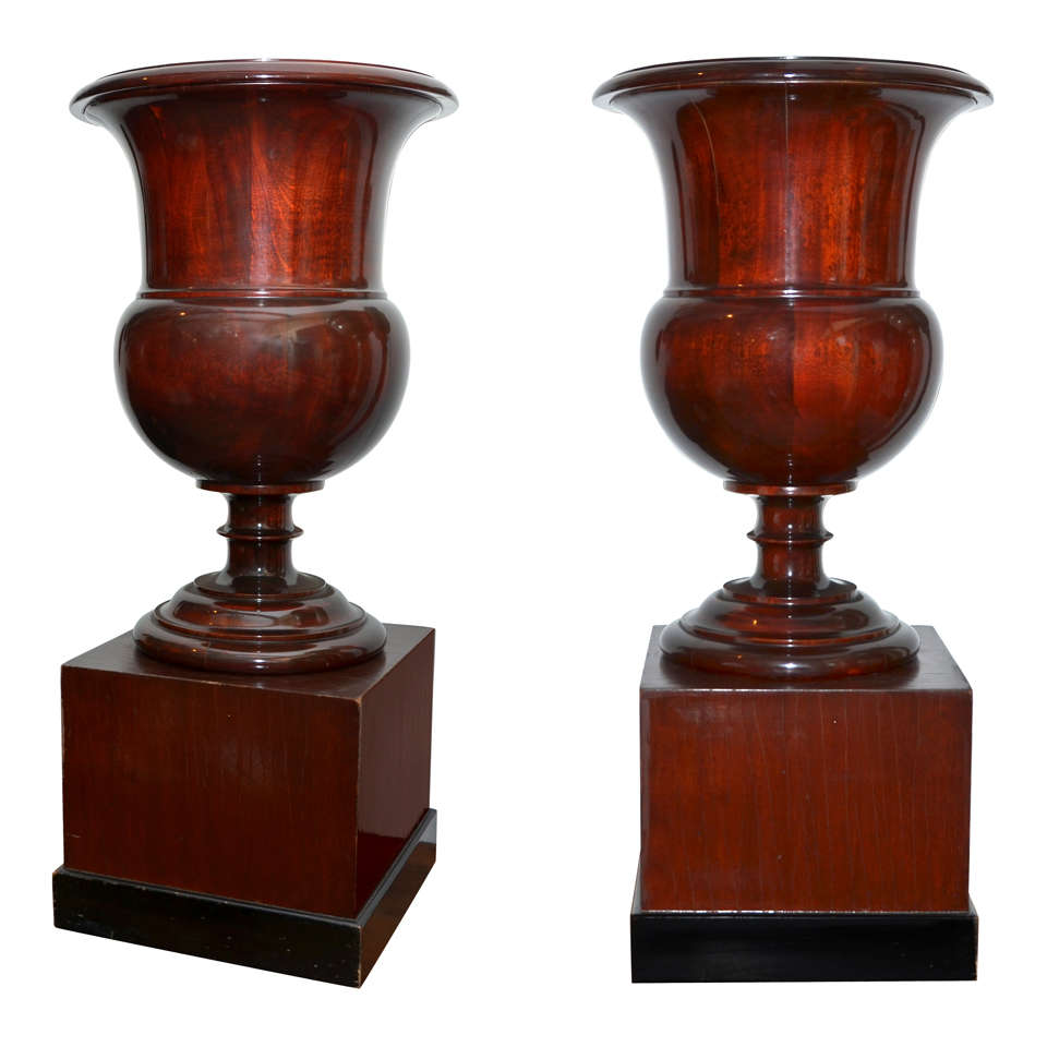 French monkey lamp - Download Mahogany Urns And Bases At 1stdibs French Monkey Lamp