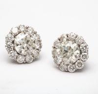 Bold Diamond Stud Earrings with Diamond Jackets at 1stdibs