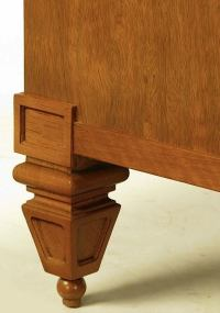 Tomlinson Mahogany and Black Leather Square Coffee Table ...