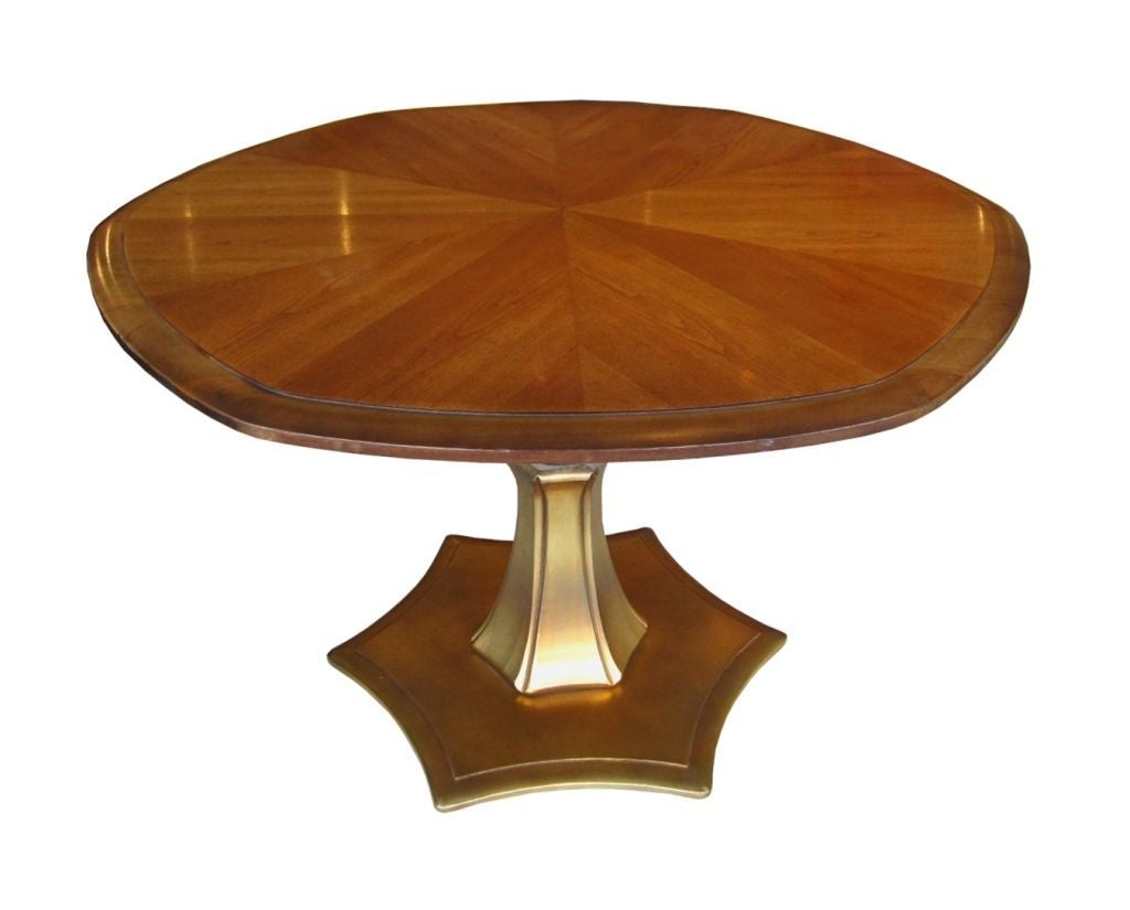 Coffee Table That Becomes Dining Table Adjustable Mahogany And Gold Coffee Or Dining Table At 1stdibs