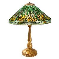 "Tiffany Studios ""Daffodil"" Leaded Glass Table Lamp at 1stdibs"