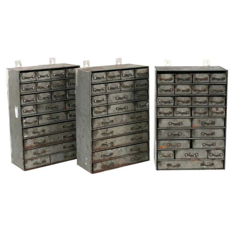 Vintage Metal Multi Drawer Cabinets At 1stdibs
