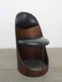 Unique Walnut Plywood Chair at 1stdibs