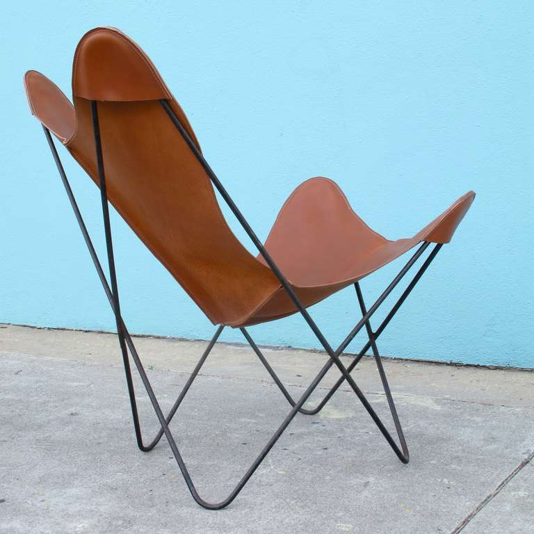 Hardoy set aka butterfly chair and ottoman by jorge