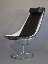 Mid-century Bruno Mathsson Jetson Leather & Chrome Chairs ...