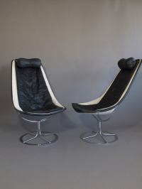 Mid-century Bruno Mathsson Jetson Leather and Chrome ...