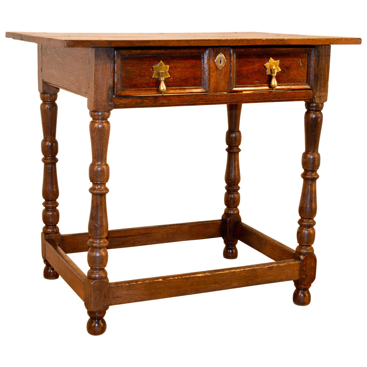 Oak Side Table With Drawer 17th C English Oak Side Table With Single Drawer At 1stdibs