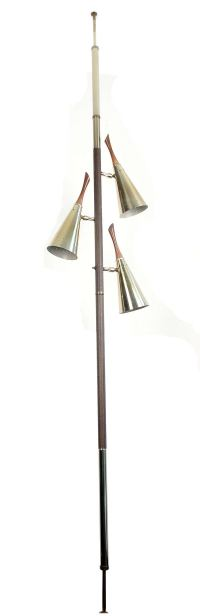 Mid Century Tension Pole Floor to Ceiling Lamp at 1stdibs