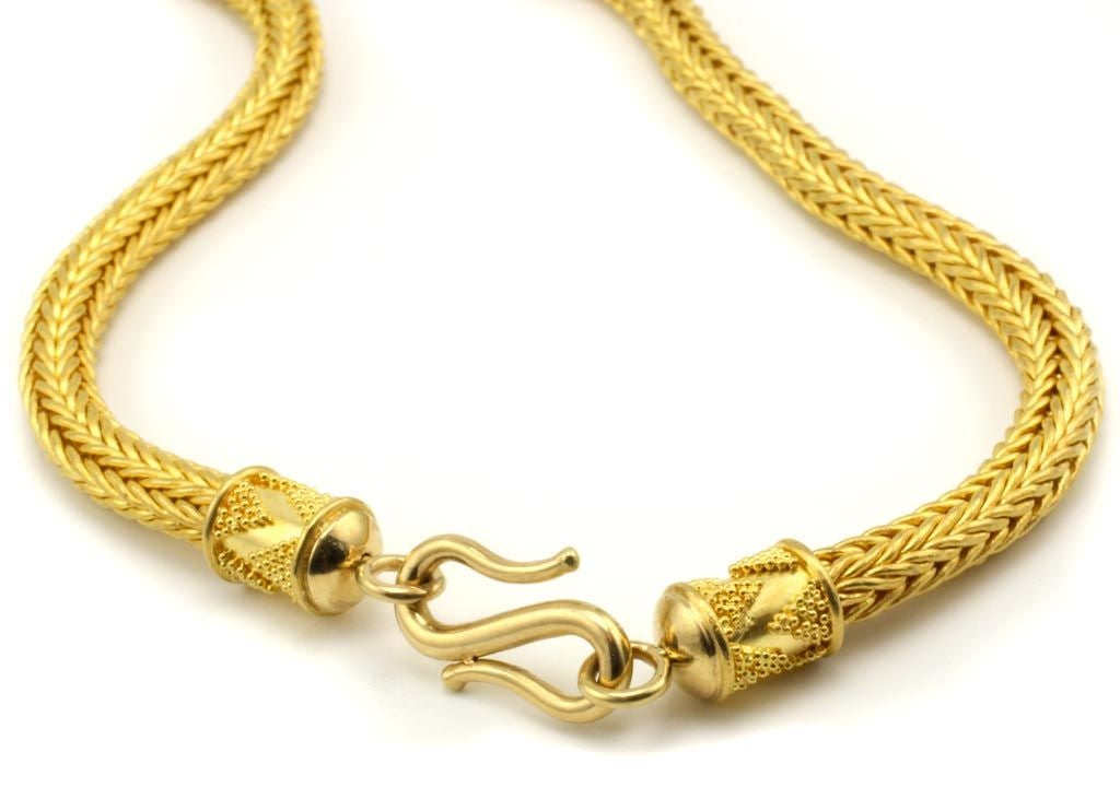 22kt Handwoven Gold Necklace At 1stdibs