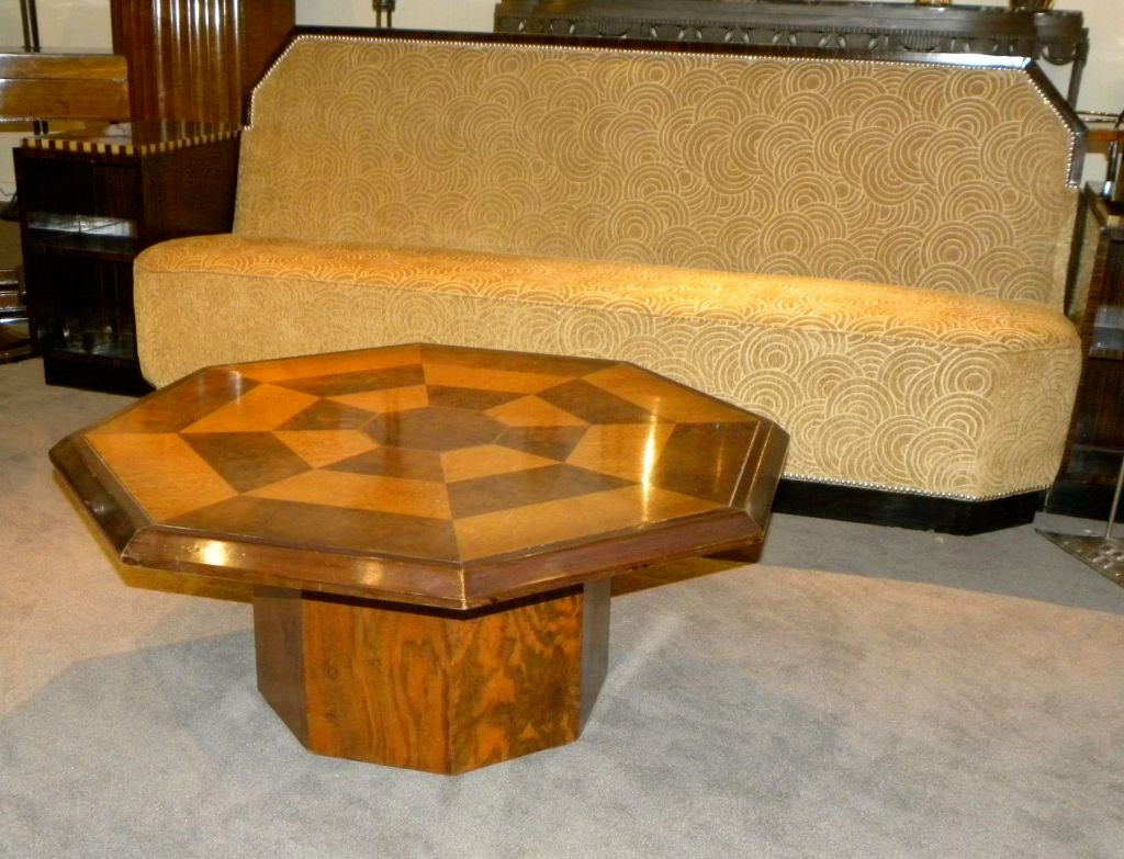 Original Coffee Table Original Two Tone Octagon Coffee Table At 1stdibs