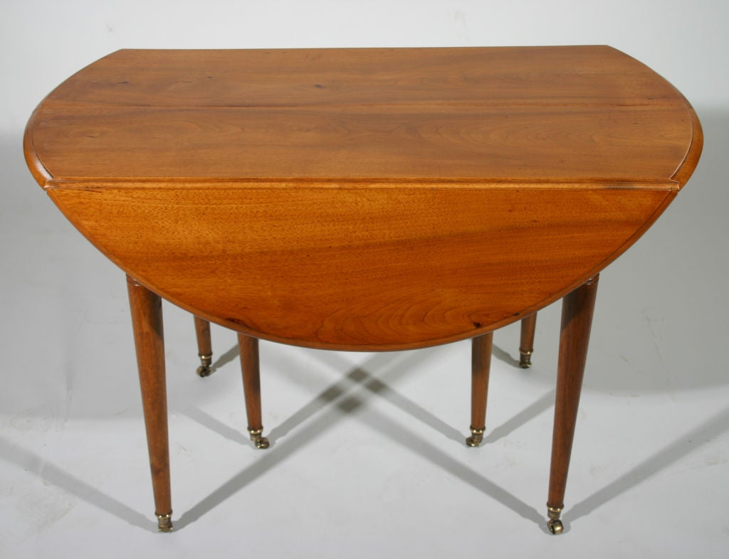 Friends Furniture Mississauga A French Walnut Drop Leaf Extension Dining Table At 1stdibs