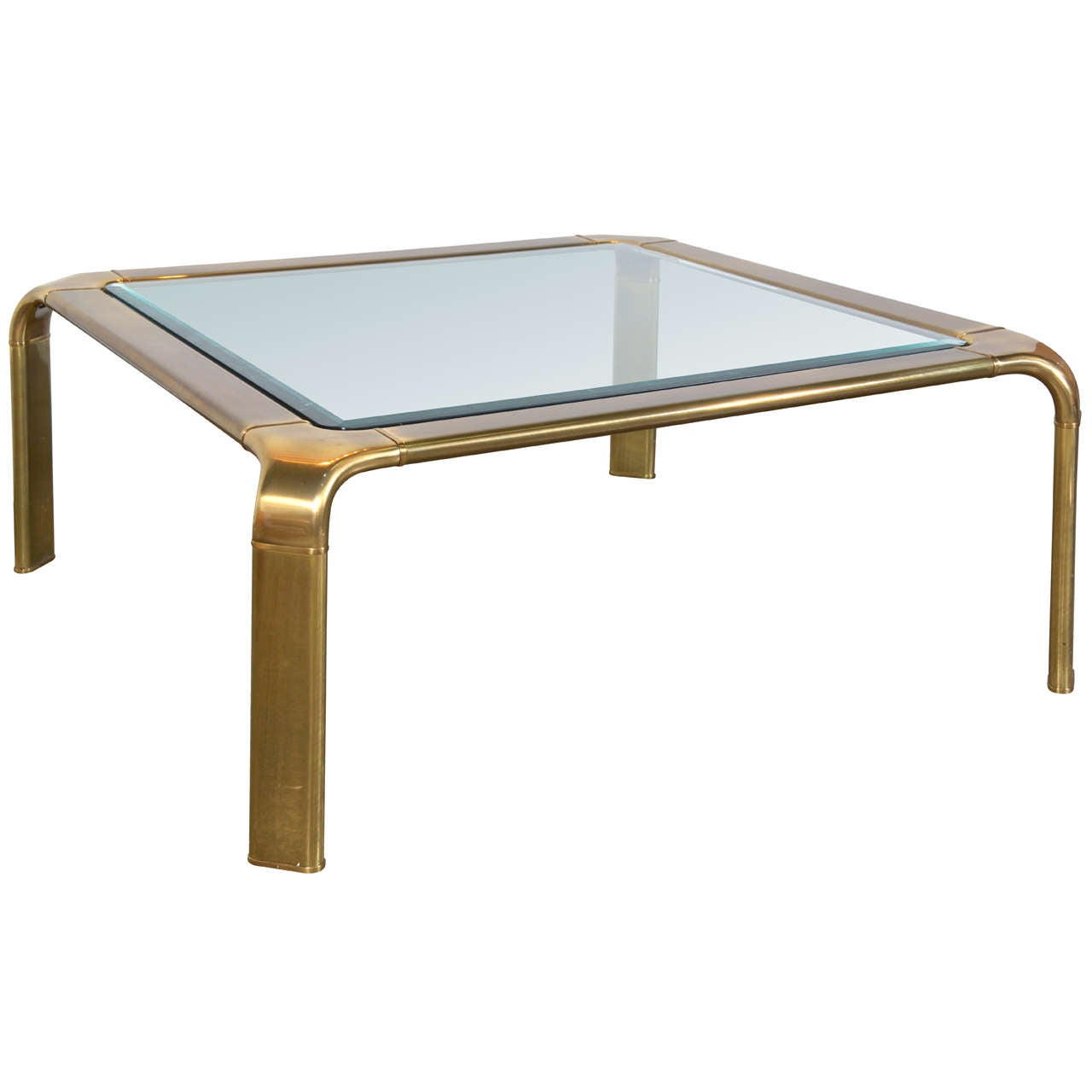 Messing Couchtisch Mit Glasplatte John Widdicomb Square Brass Coffee Table With Glass Top At