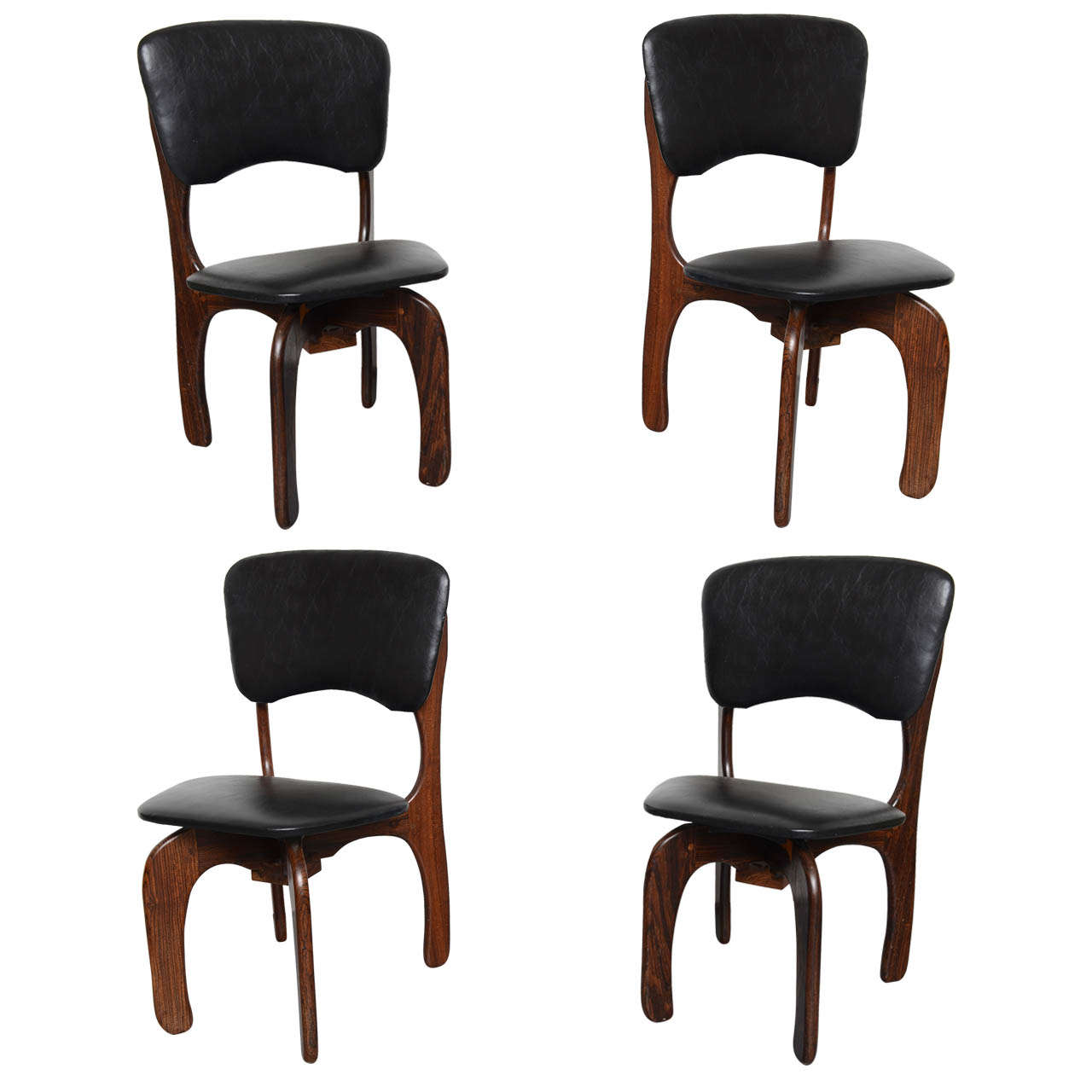 Viva Mexico Chair 1970s Rosewood Chairs By Don Shoemaker Mexico At 1stdibs