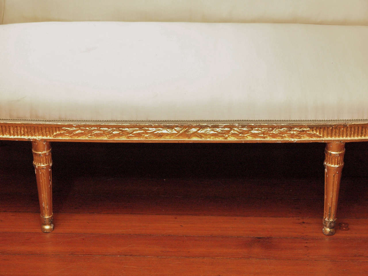 Danish Furniture St Louis Danish Louis Xvi Gilt Wood Canape At 1stdibs