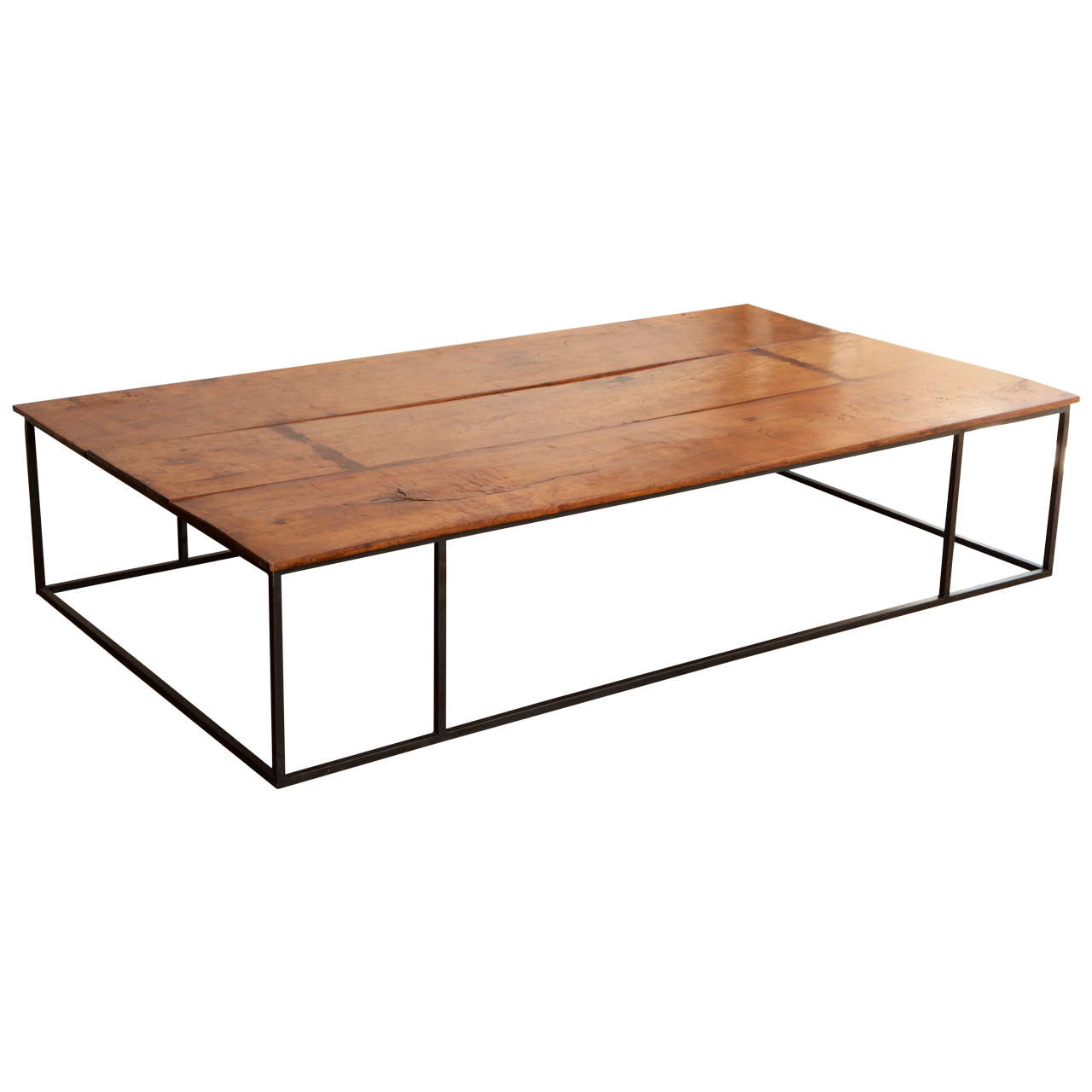 Couchtisch Mit Eisengestell Italian Lemonwood Coffee Table On Iron Base At 1stdibs